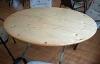Runder Tisch mit rundem Bank 120 cm